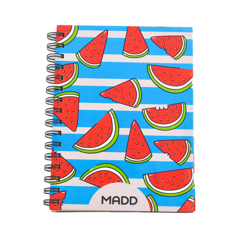 Hardcover Wacky Watermelon A5 Notebook