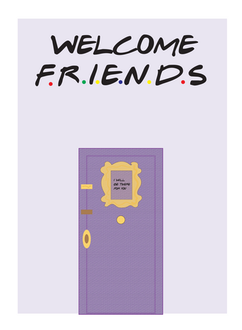 Welcome Friends Poster