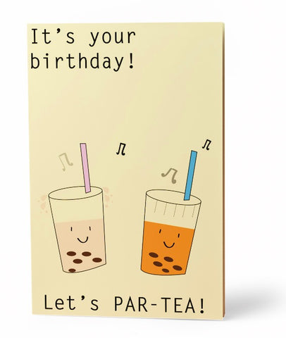 Par Tea Greeting Card