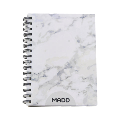 Cararra White Marble A5 Notebook