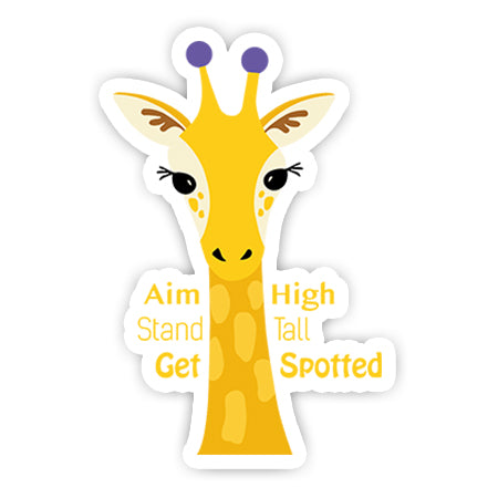 Aim high stand tall sticker-Minis-sticktop-[Laptop sticker Egypt]-[Laptop sticker in Egypt]-sticktop