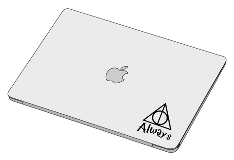 Deathlly Hallows Always sticker-Decal-]-Best laptop stickers in Egypt.-sticktop