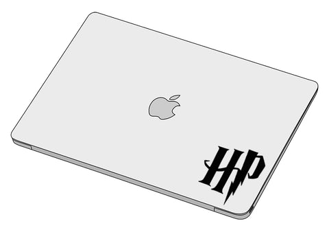 HP initials sticker-Decal-]-Best laptop stickers in Egypt.-sticktop