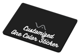 Customize a one-color Decal