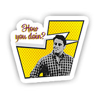 Comic How You doin' sticker-minis-sticktop-[Laptop sticker Egypt]-[Laptop sticker in Egypt]-sticktop