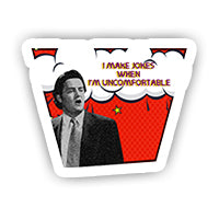 Comic Chandler Bing sticker-minis-sticktop-[Laptop sticker Egypt]-[Laptop sticker in Egypt]-sticktop
