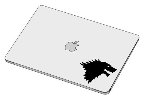 House Stark sticker-Decal-]-Best laptop stickers in Egypt.-sticktop