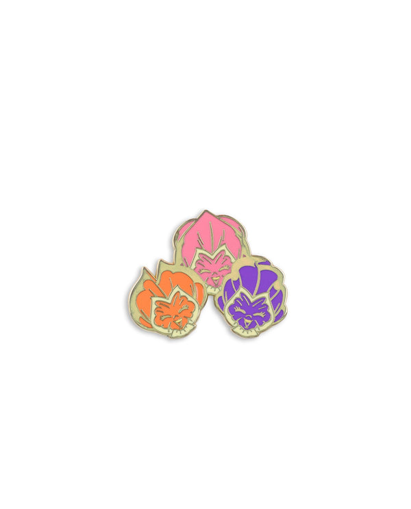Singing Flowers Enamel Pin