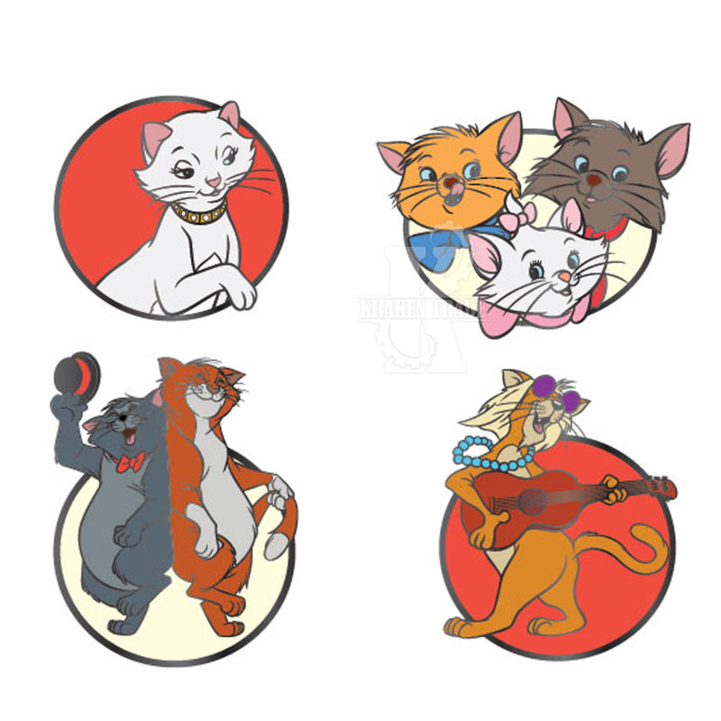 Aristocats Disney Pins 4 Pcs Set