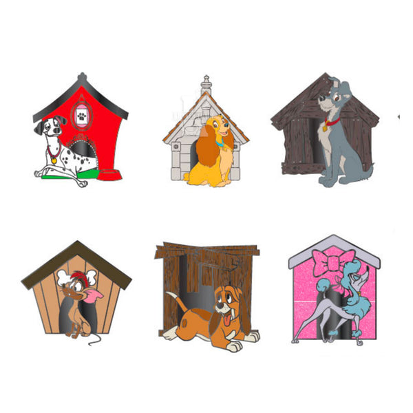 Disney Dog Houses Blind Box Hard Enamel Pins