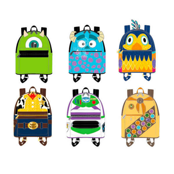 Pixar Mini Backpack Blind Box Hard Enamel Pins