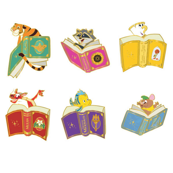 Disney Princess Books Blind Box Hard Enamel Pins