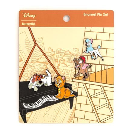 Oliver & Co. Disney Pins 4 Pcs Set