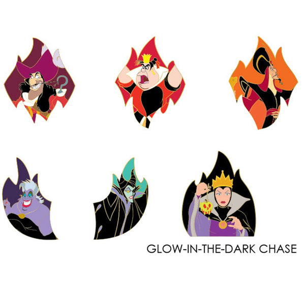 Villains Flames Blind Box Hard Enamel Pins