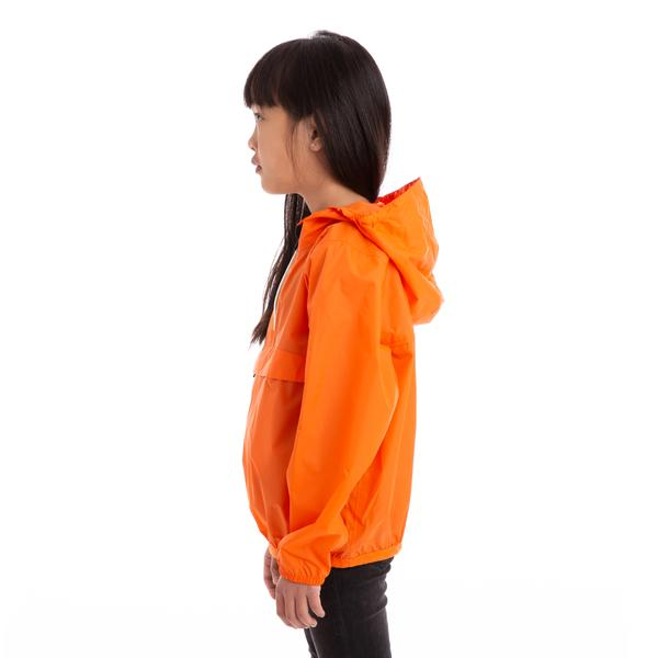 Kids Le Vrai 3.0 Leon Half Zip Jacket Orange Flame