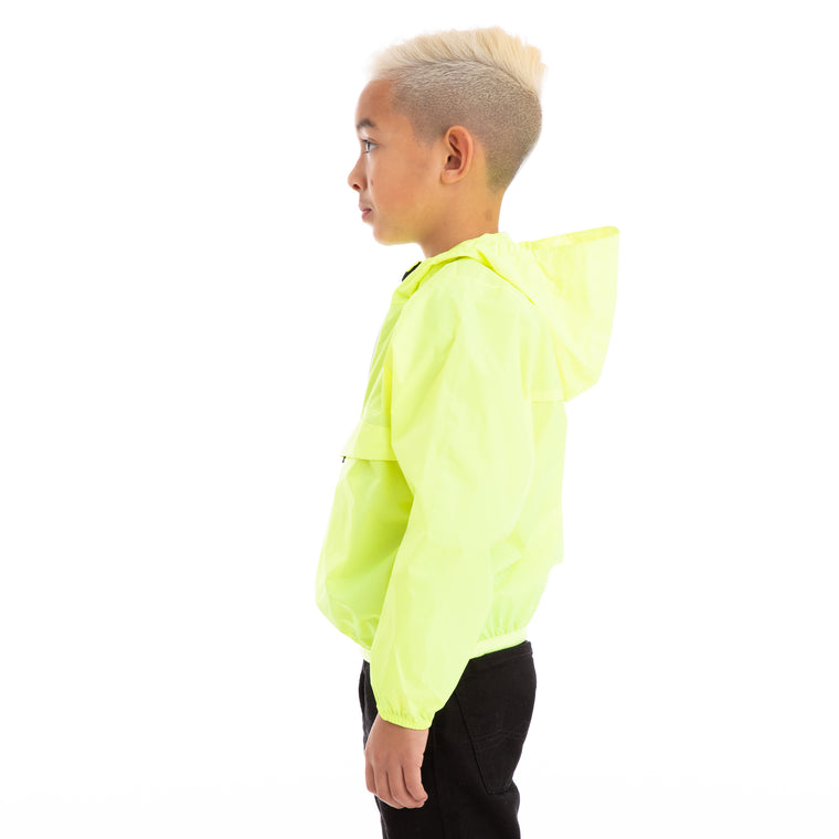 K-Way Kids Le Vrai 3.0  Leon Jacket Yellow Fluo