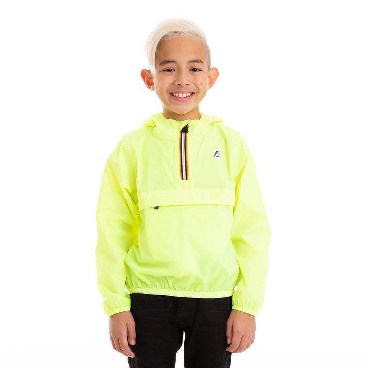 Kids Le Vrai 3.0  Leon Half Zip Jacket Yellow Fluo