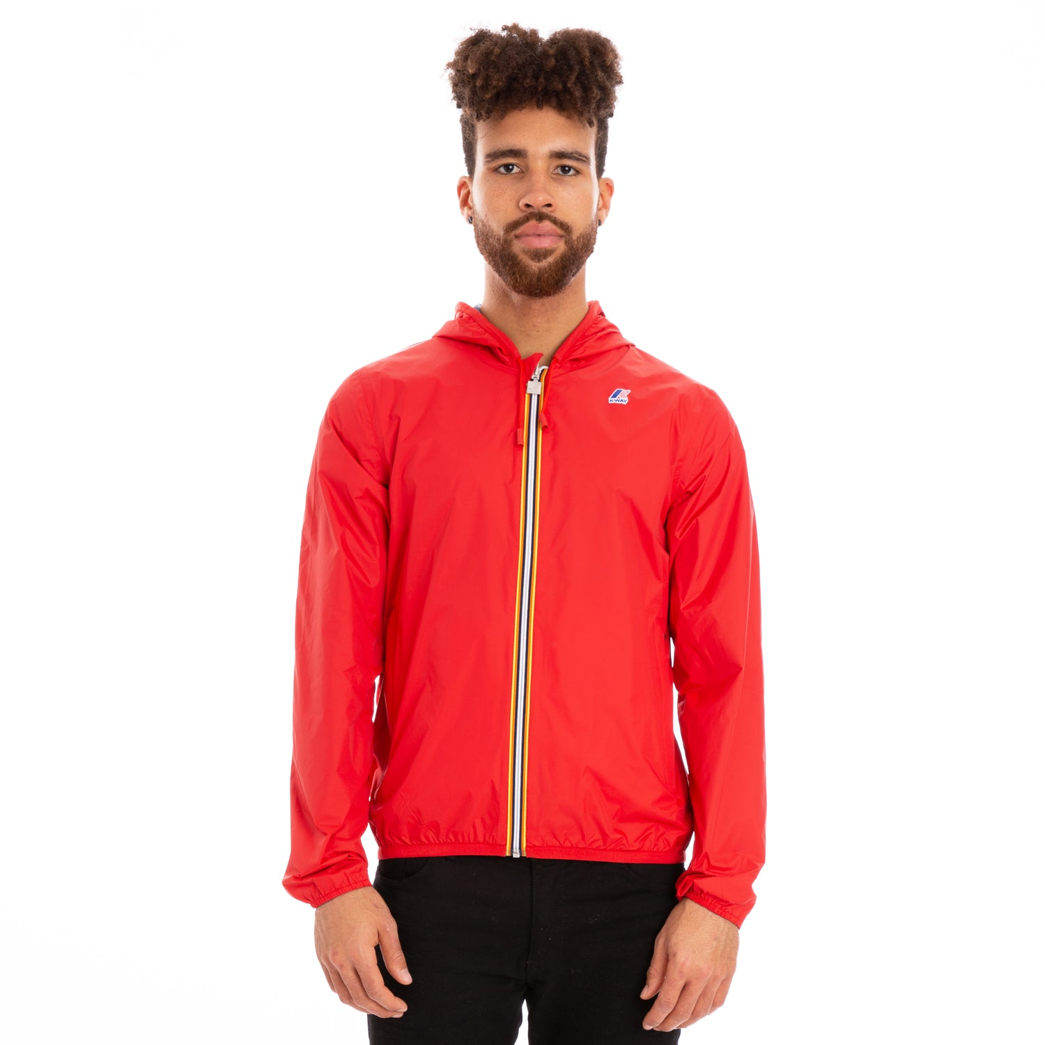 K-Way Men's Jacques Reversible Plus Double Jacket Red Blue Ottanio