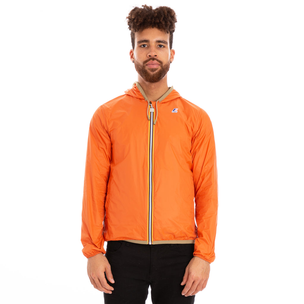 K-Way Men's Jacques Reversible Plus Double Jacket Khaki Orange