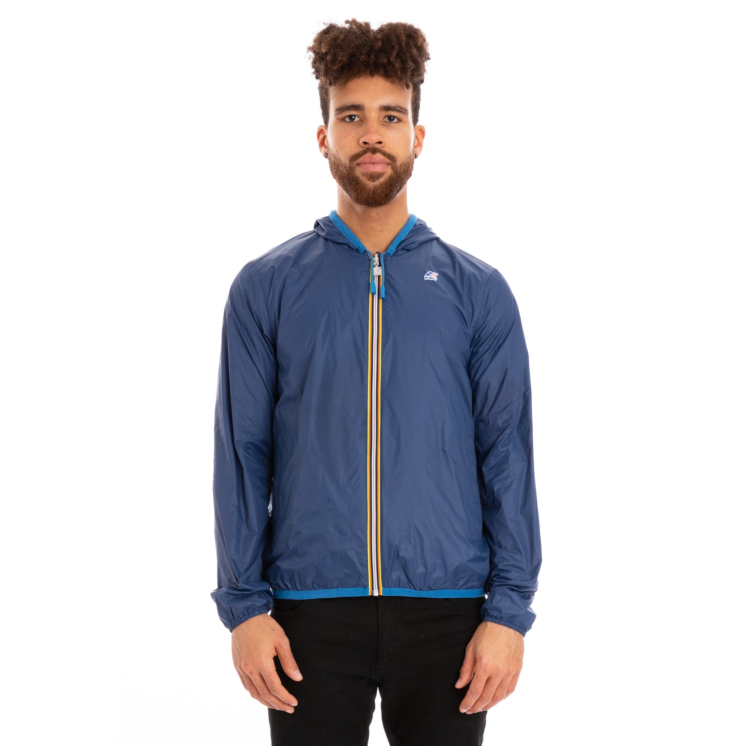 K-Way Men's Jacques Reversible Plus Double Jacket Blue Blue