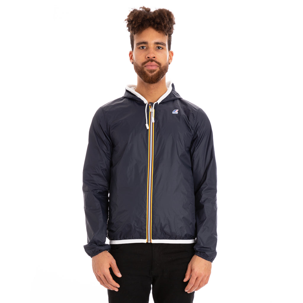 K-Way Men's Jacques Reversible Plus Double Jacket White Blue