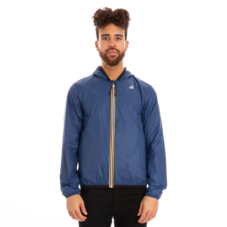 K-Way Men's Jacques Reversible Plus Double Jacket Black Blue Ottanio