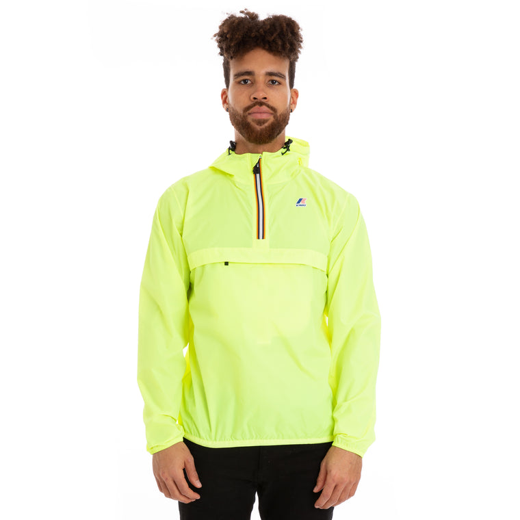 Men's Le Vrai 3.0 Leon Half Zip Jacket Yellow Fluo