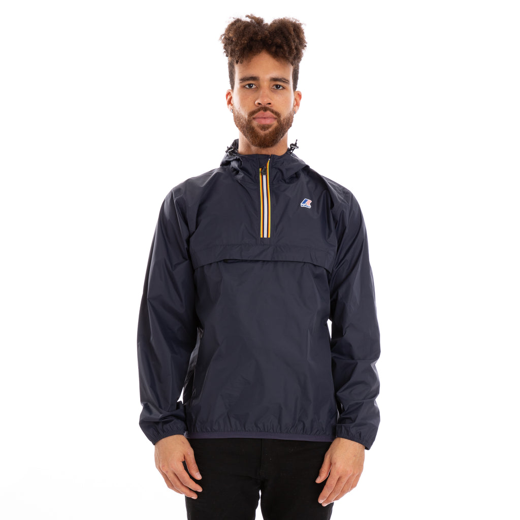 K-Way Men's Le Vrai 3.0 Leon Half Zip Jacket Blue Depth