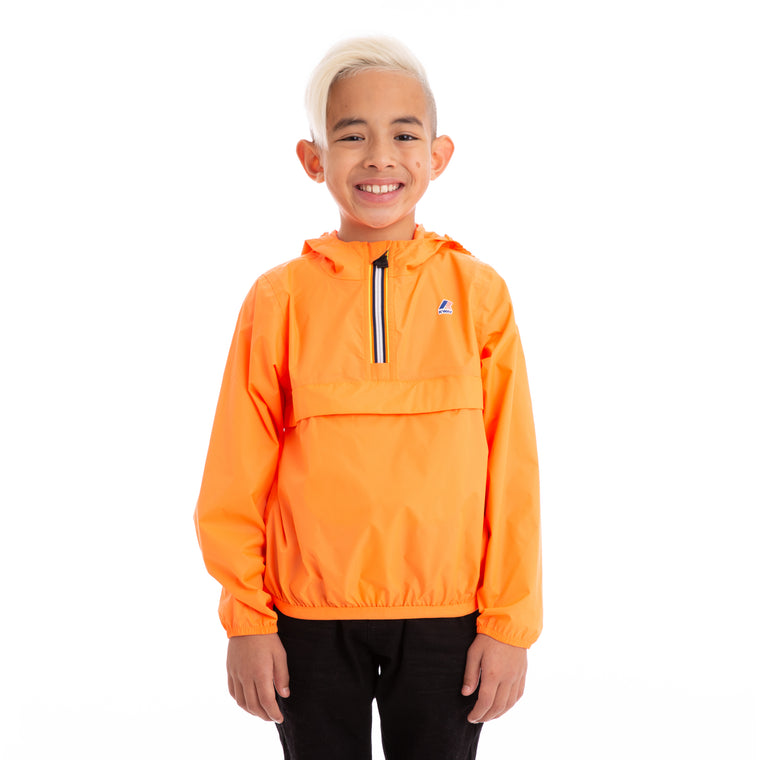 Kids Le Vrai 3.0  Leon Half Zip Jacket Orange Extrafluo
