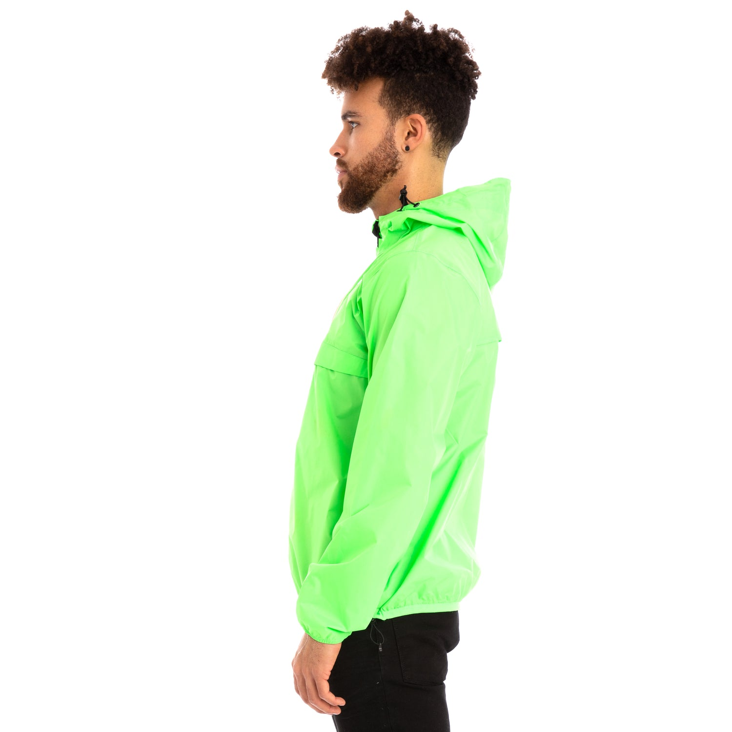 K-Way Men's Le Vrai 3.0 Leon Jacket Green Fluo