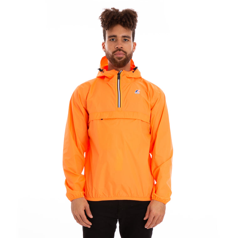 Men's Le Vrai 3.0 Leon Half Zip Jacket Orange Extrafluo