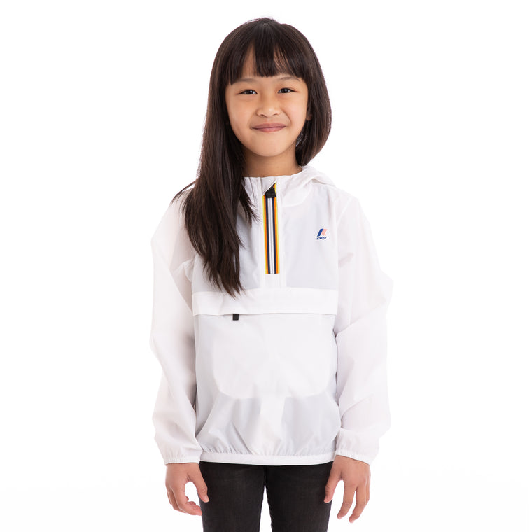 Kids Le Vrai 3.0  Leon Half Zip Jacket White