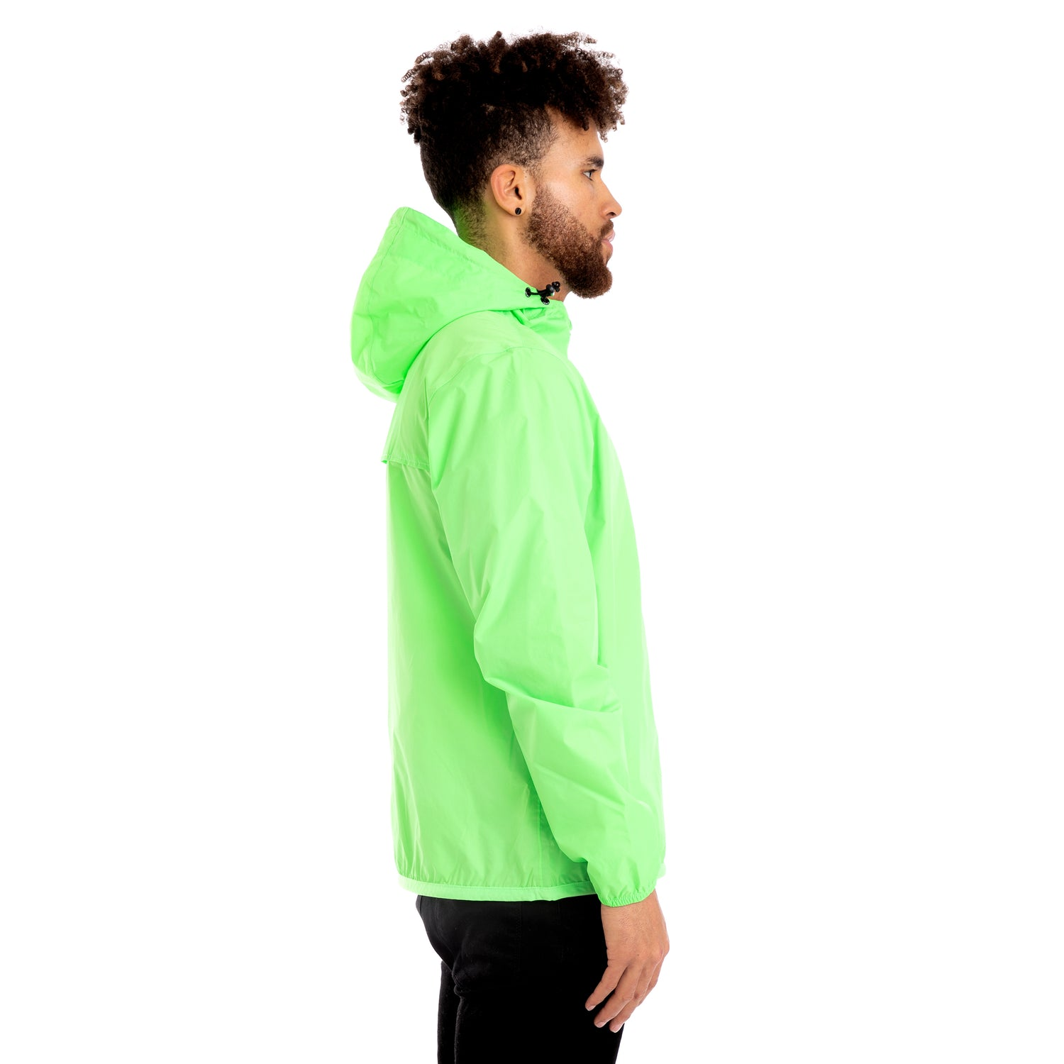 K-Way Men's Le Vrai 3.0 Claude Jacket Green Fluo