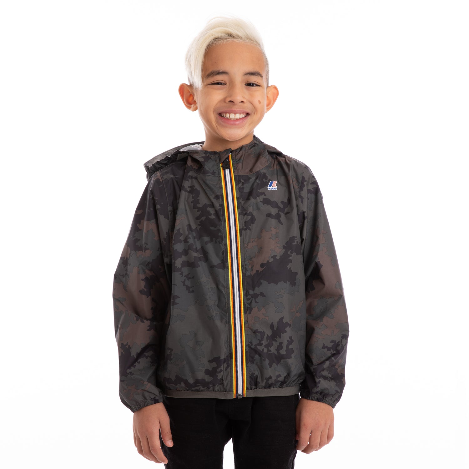 K-Way Kids Le Vrai 3.0 Claude Graphic Jacket Dark Camouflage