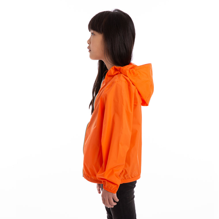 K-Way Kids Le Vrai 3.0 Claude Full Zip Jacket Orange Flame