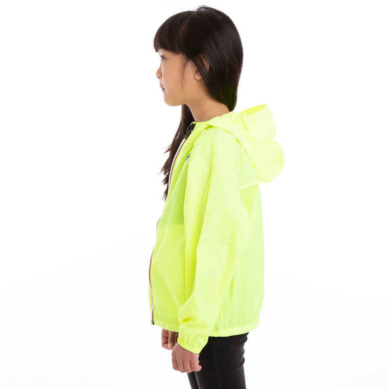K-Way Kids Le Vrai 3.0 Claude Jacket Yellow Fluo