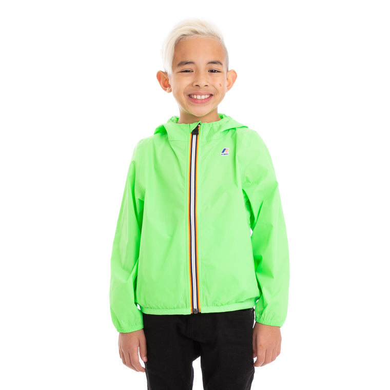 Kids Le Vrai 3.0 Claude Full Zip Jacket Green Fluo