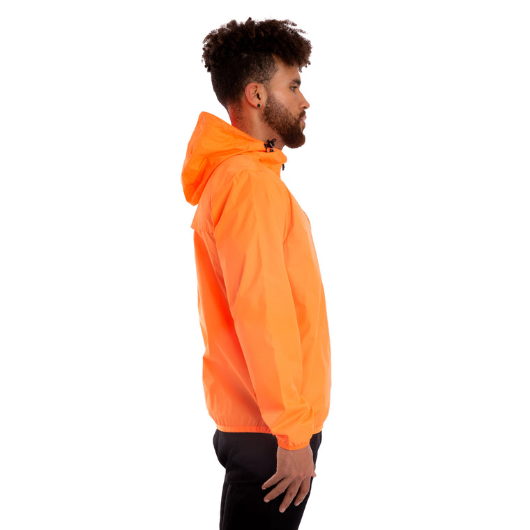 K-Way Mens Le Vrai 3.0 Claude Jacket Orange Extrafluo