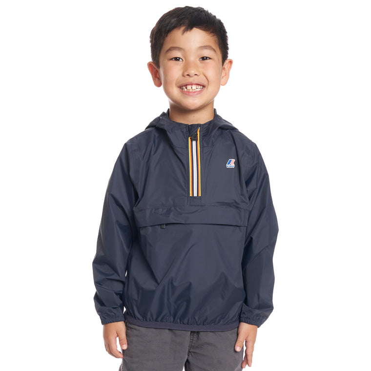 Kids Le Vrai 3.0 Leon Half Zip Jacket Blue Depth