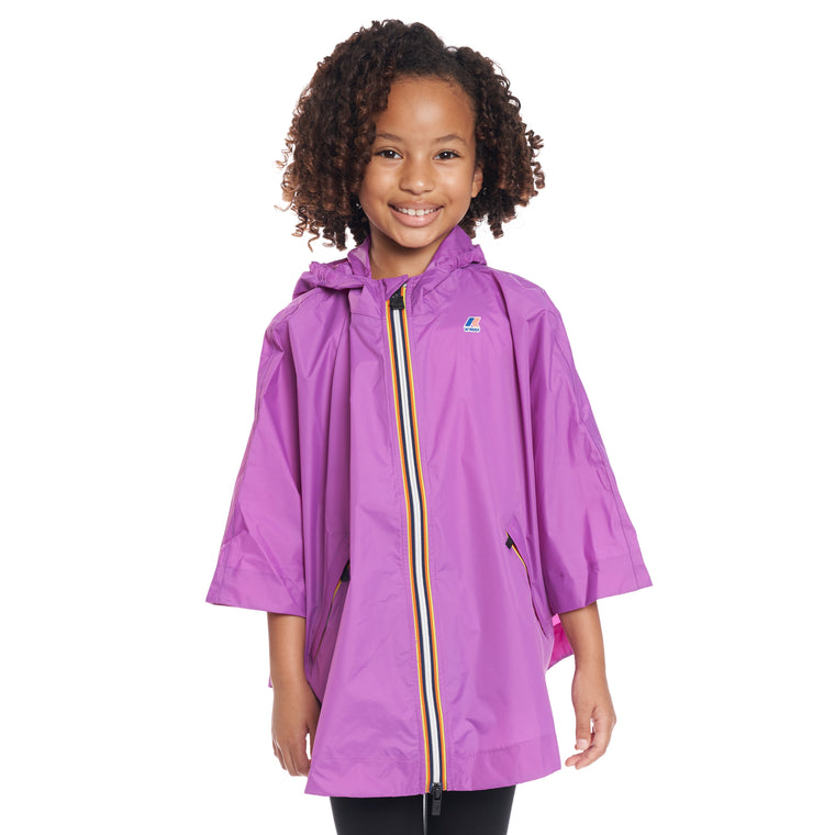 Kids Le Vrai 3.0 Morgan Full Zip Poncho Violet