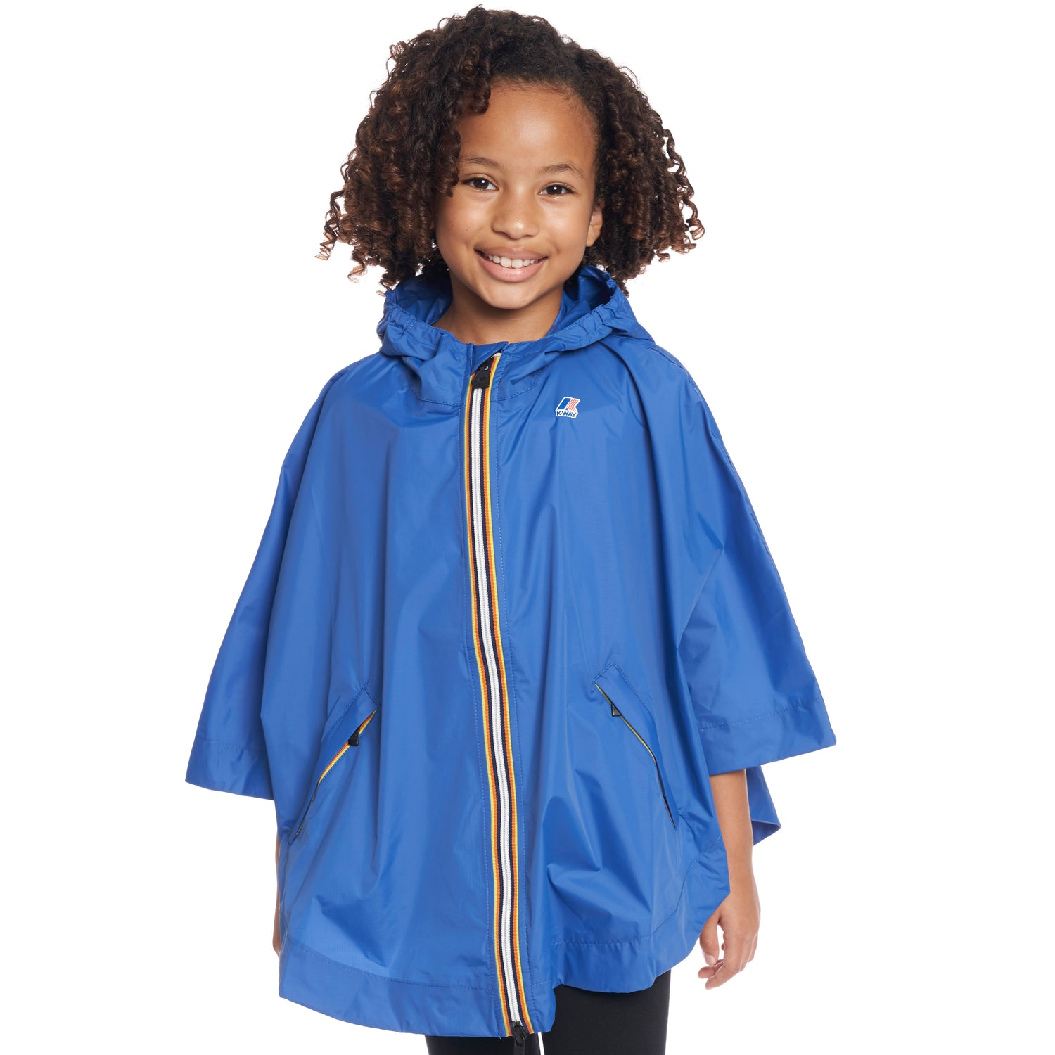 Kids Le Vrai 3.0 Morgan Poncho Blue Royal - Front