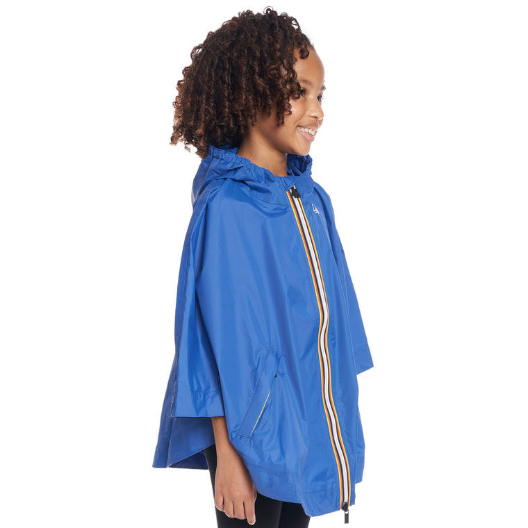 Kids Le Vrai 3.0 Morgan Poncho Blue Royal - Back
