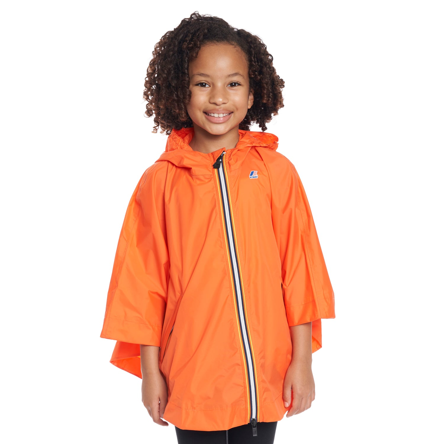 Kids Le Vrai 3.0 Morgan Poncho Orange Flame - Front