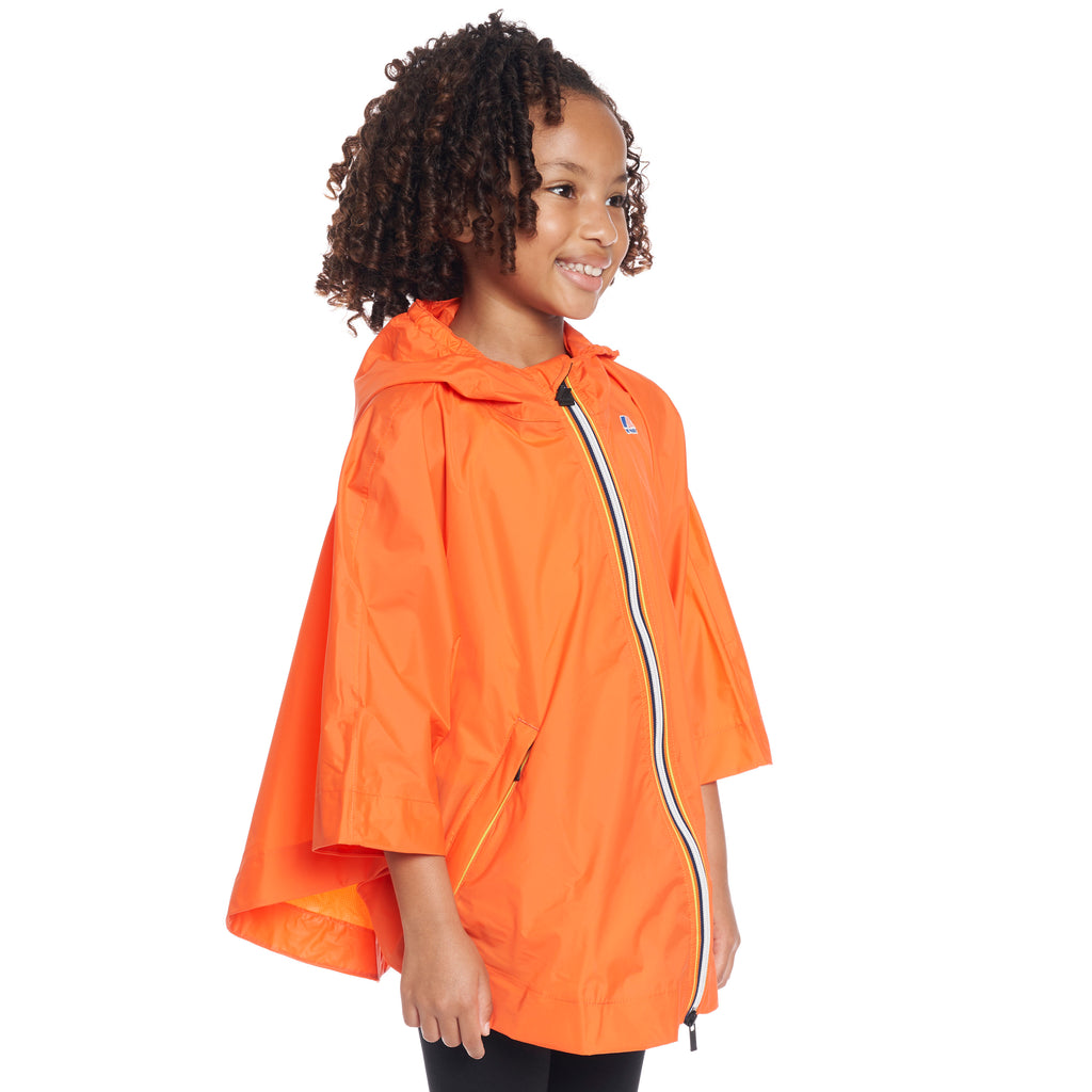 Kids Le Vrai 3.0 Morgan Poncho Orange Flame - Side