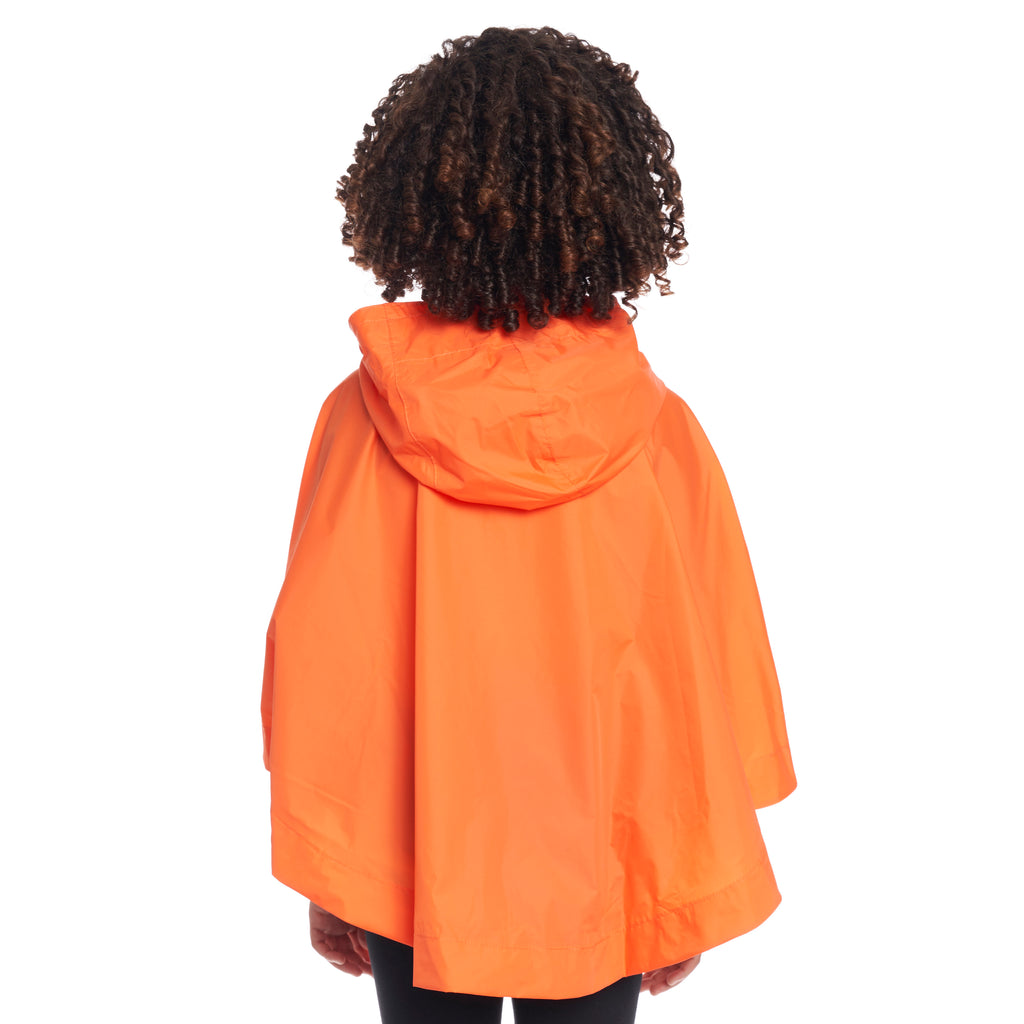 Kids Le Vrai 3.0 Morgan Poncho Orange Flame - Back