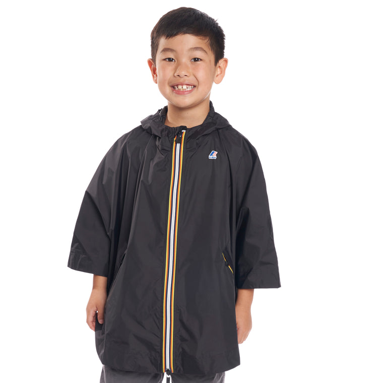 Kids Le Vrai 3.0 Morgan Full Zip Poncho Black