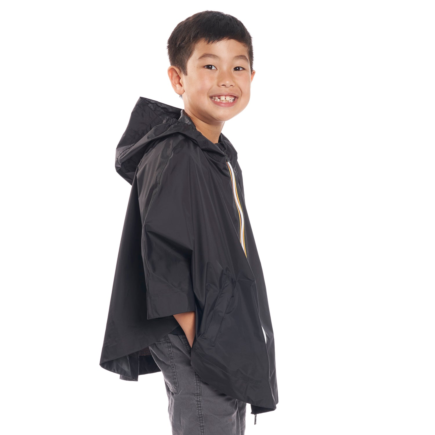 Kids Le Vrai 3.0 Morgan Poncho Black - Side