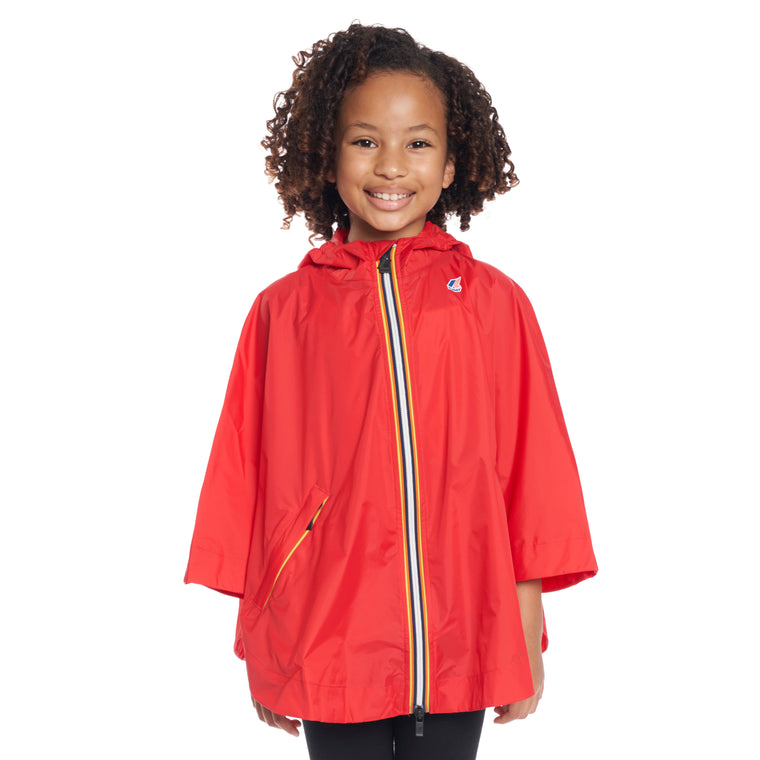 Kids Le Vrai 3.0 Morgan Full Zip Poncho Red