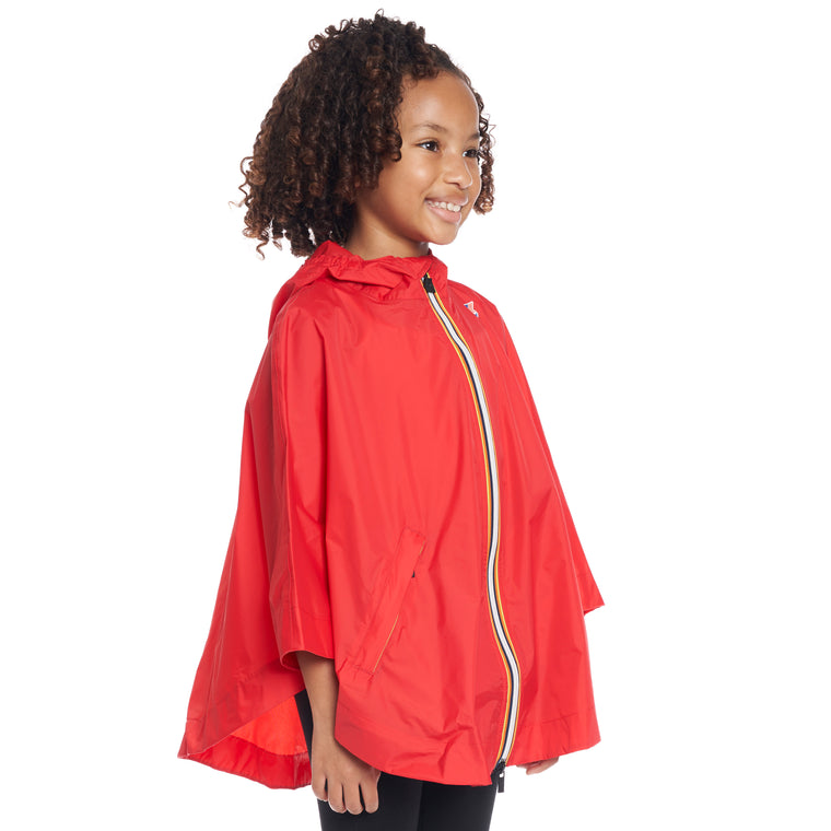 Kids Le Vrai 3.0 Morgan Poncho Red - Back