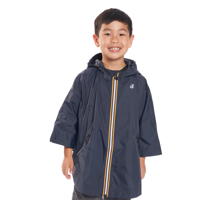 Kids Le Vrai 3.0 Morgan Full Zip Poncho Blue Depth